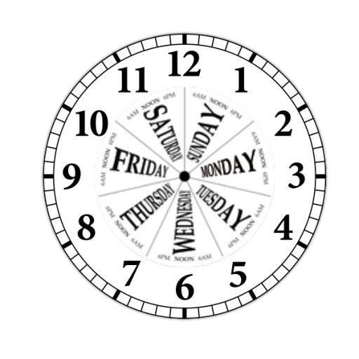 Day of the Week Clock Dial
